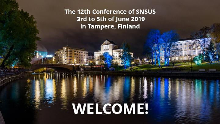 "SNSUS - Stiftelsen Nordiska Sällskapet för Upplysning om Spelberoende is organising the 12th Nordic Conference on Gambling in Tampere, Finland on 3rd to 5th of June 2019 ""Nordic interfaces – gambling and gaming from research to practise""."