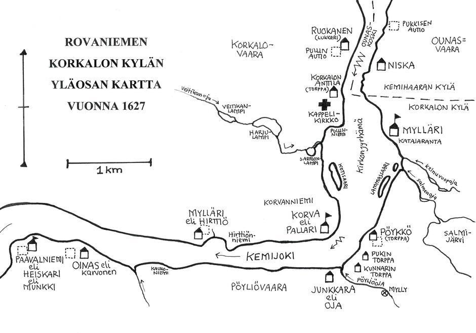 Asiakirjoja Rovaniemen Vanhoista Taloista Rovaniemen