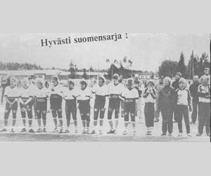 Nousijajoukkue Viinijärven Urheilijat syksyllä1984