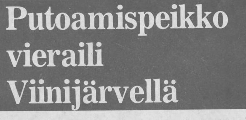 Kaikkien palloilujoukkueiden vihollinen nähtiin Viinijärvellä 1982