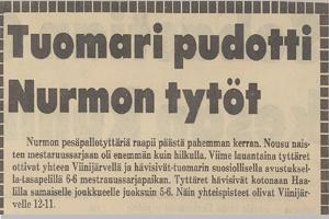 Pohjalaista spekulaatiota ottelun tuomaritoiminnasta v 1981