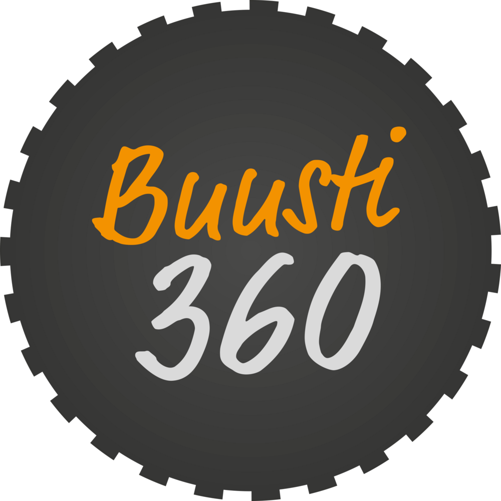 Buusti360-logo. Kuva johtaa Buusti360 verkkosivuille.