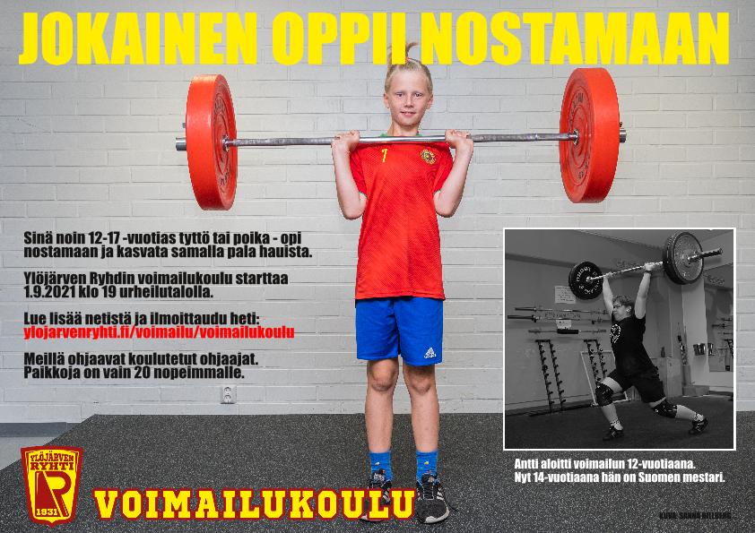 Painonnostotekniikat kannattaa opetella ennen murrosikää. Esimerkkinä Antti Vähäkoski, joka voitti 14-vuotiaana painonnoston nuorten Suomen mestaruuden.