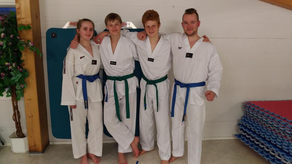 Emmi (vas.), Veikka, Lucas ja Jani