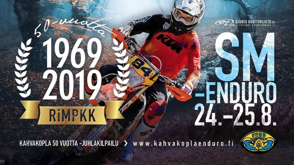 Kahvakopla 50-vuotta SM-enduro 24.-25. elokuuta 2019 Riihimäellä