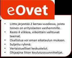 Omaishoitajaliiton verkossa järjestettävän Ovet-valmennuksen logo