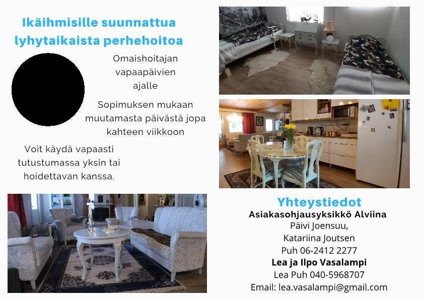 Ikäihmisille suunnattu perhehoito Järvi-Pohjanmaan alueella.