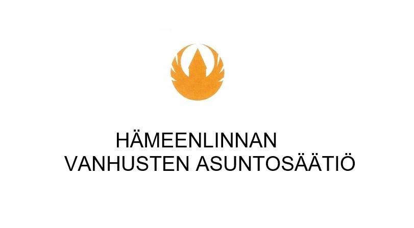 Hämeenlinnan Vanhusten asuntosäätiön logo ja linkki verkkosivuille.