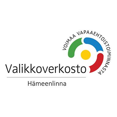 Hämeenlinnan Valikko-verkoston logo, voimaa vapaaehtoistoiminnasta.
