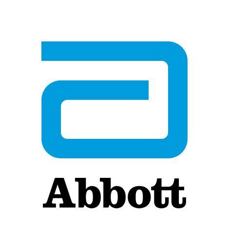 """Abbott-logo, jossa a-kirjan ja sen alla """"Abbott""""-teksti"""