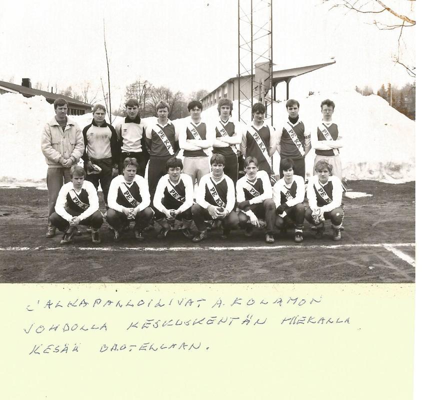 1986 PeKa edustus + A-juniorit.