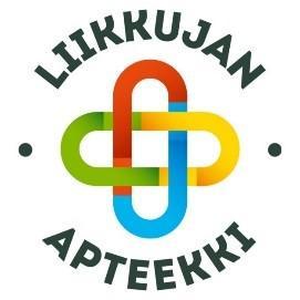 Liikkujan apteekki -logo. Kuva johtaa Kunnossa kaiken ikää -verkkosivuille.