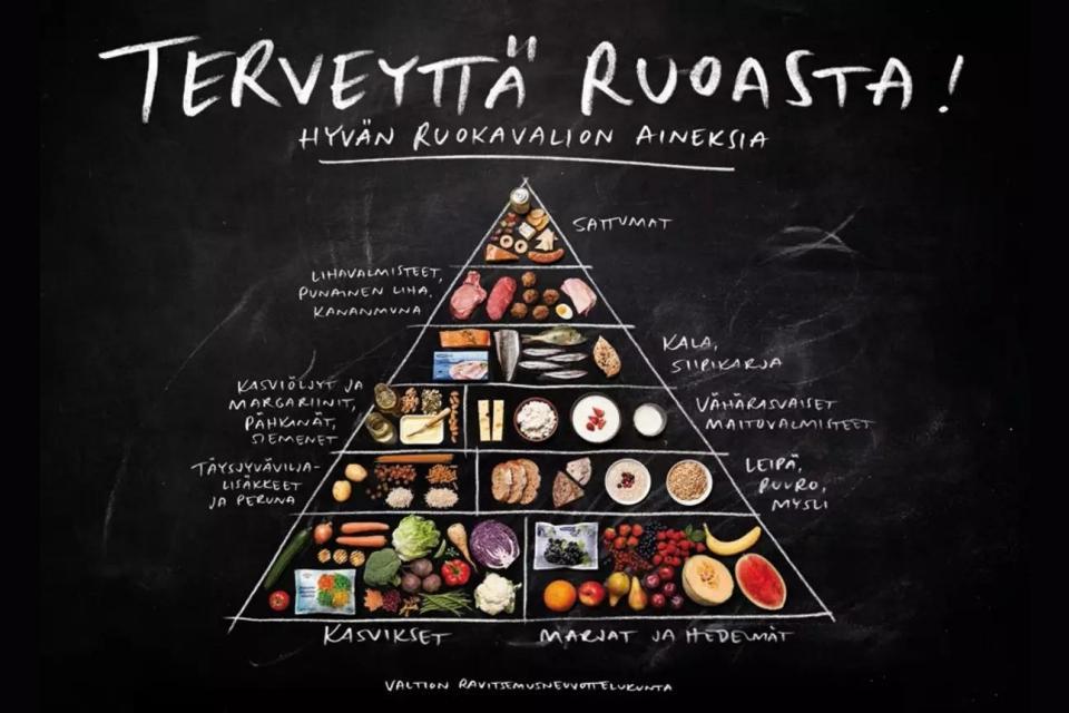 Terveyttä ruoasta -diagrammi.