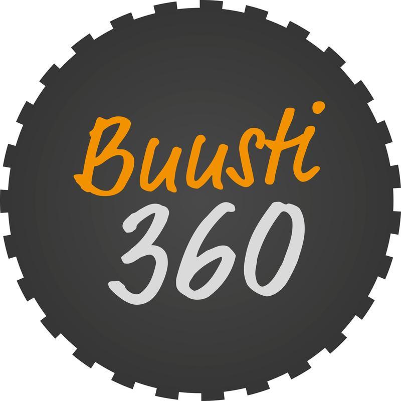 Buusti 360 -logo.