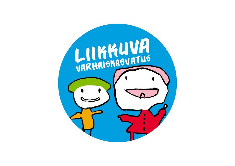 Liikkuva Varhaiskasvatus -logo. Kuva johtaa Liikkuva varhaiskasvatus -verkkosivuille.