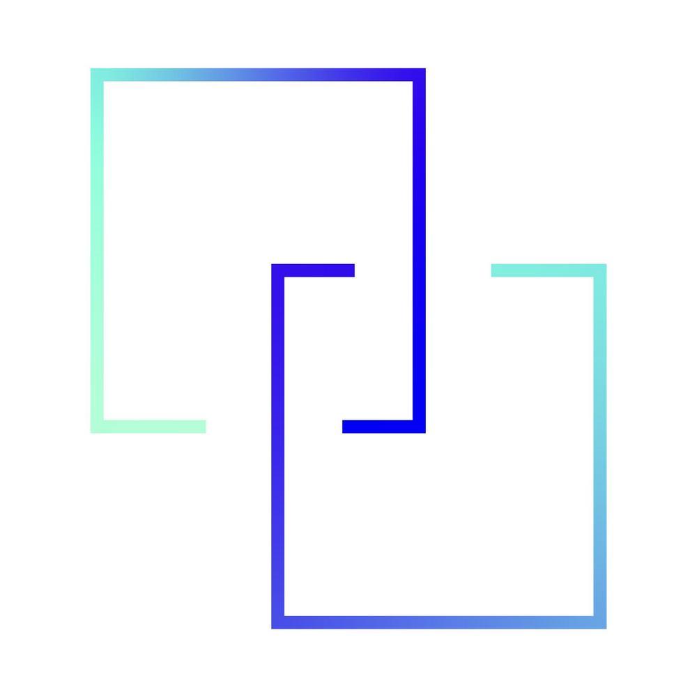 Greaafinen elementti, jossa kaksi neliötä liittyy toisiinsa.
