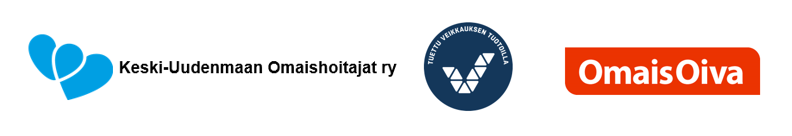 Kuva, jossa vierekkäin yhdistyksen logo, OmaisOiva-toiminnan logo ja Veikkauksen logo