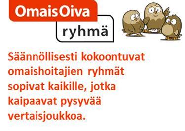 Kuva OmaisOiva-ryhmätoiminnasta, jossa seliteteksti ja kolme pöllöä yhdessä