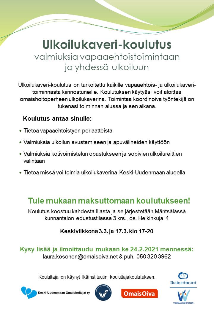 Mäntsälän Ulkoilukaveri-koulutuksen mainoskuva