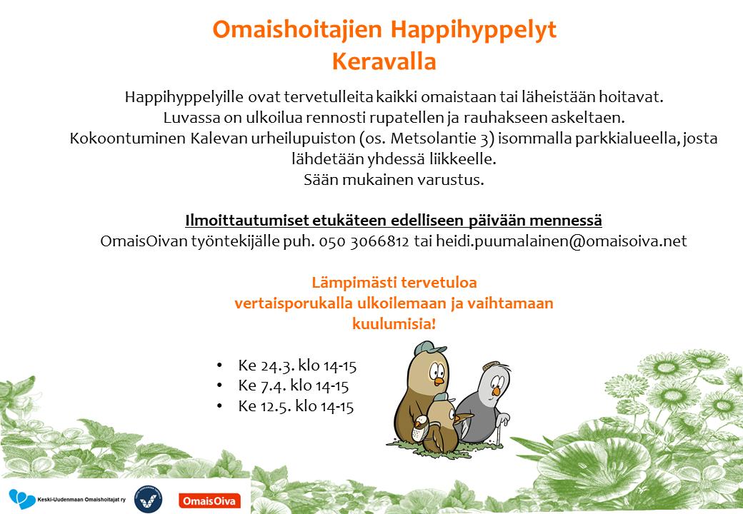 Omaishoitajien Happihyppelyt Keravalla mainoskuva