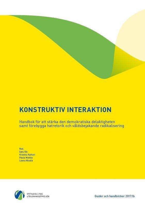 Länka till OPH guide Konstruktiv interaktion: Handbok för att stärka den demokratiska delaktigheten samt förebygga hatretorik och våldsbejakande radikalisering.