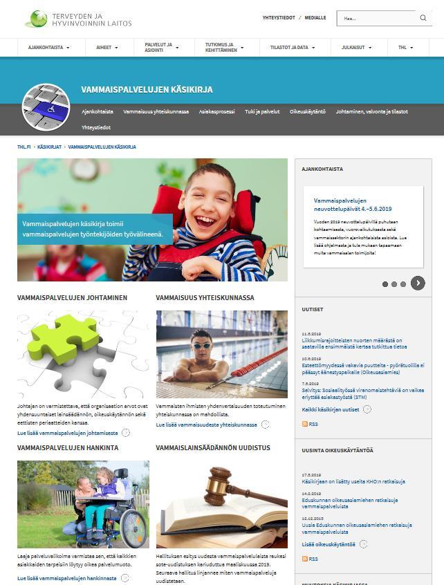 Kuvakaappaus THL:n verkkosivuilta.