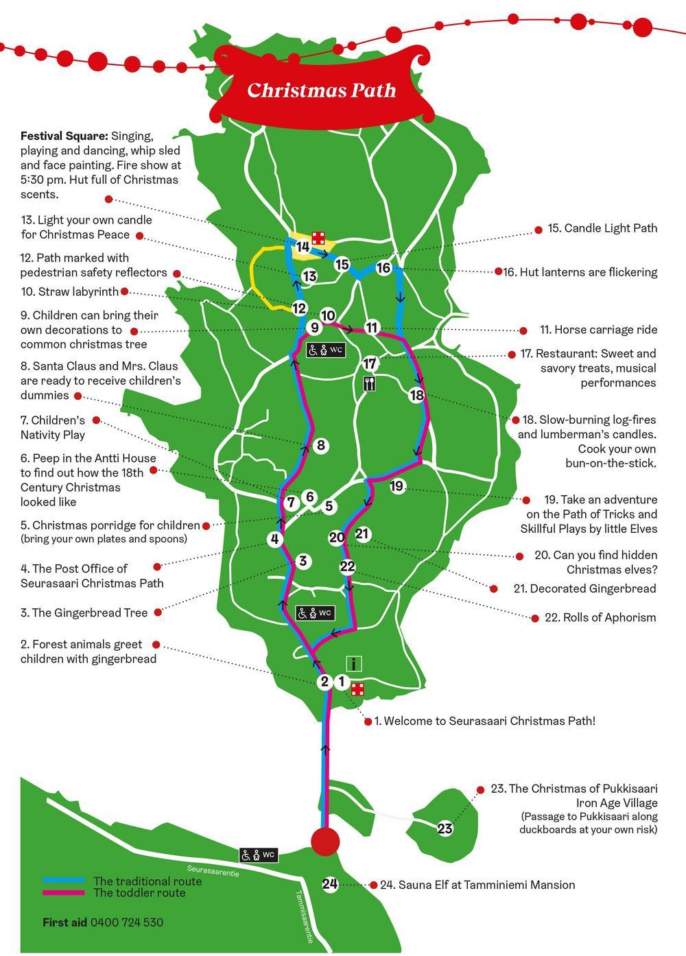 The programme of Seurasaari Christmas Path