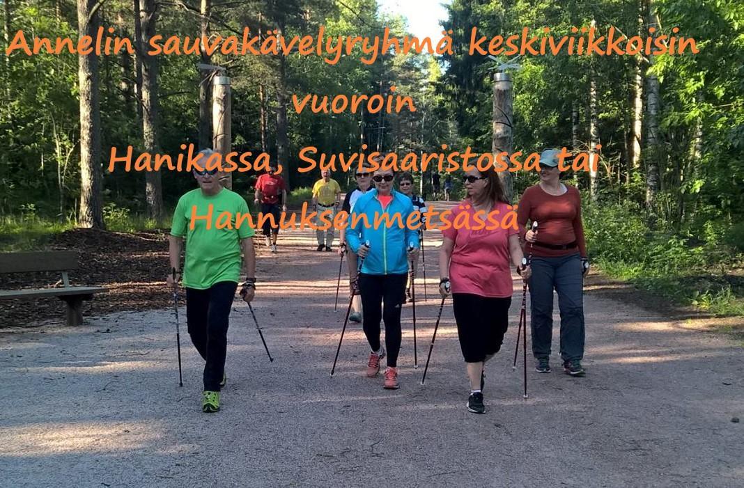 Espoon Latu sauvakävelijät Suvisaariston metsäpolulla