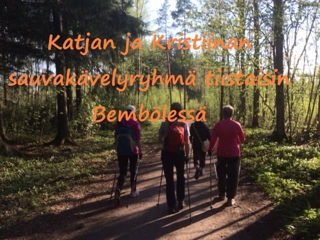 Espoon Latu sauvakävelijät metsäpolulla Bembölessä