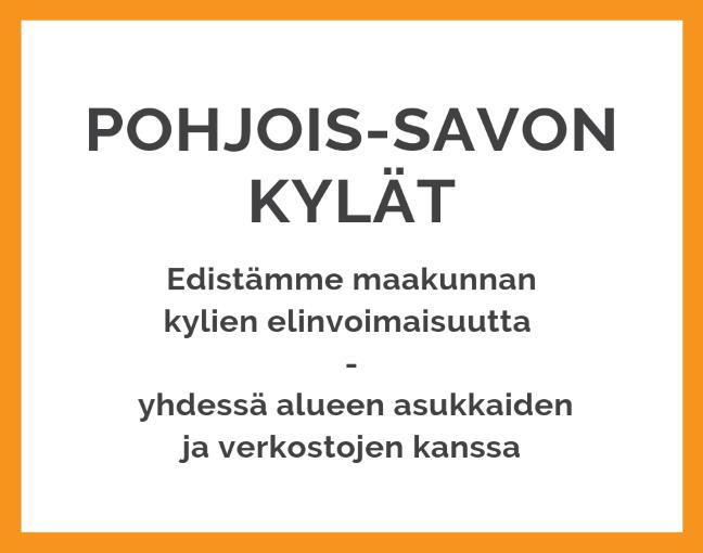 Pohjois-Savon Kylät ry edistää maakunnan kylien elinvoimaisuutta yhdessä alueen asukkaiden ja verkostojen kanssa.