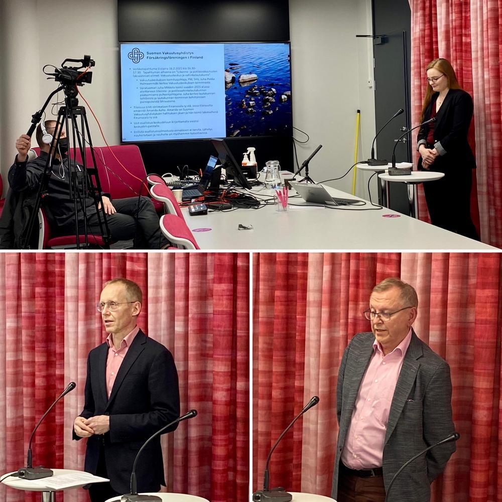 Kuvassa Amanda Aalto avaa tilaisuutta, Juha-Pekka Halmeenmäki ja Juha Mikkola esiintyvät. Kuva: Eija Kaipainen-Perttula