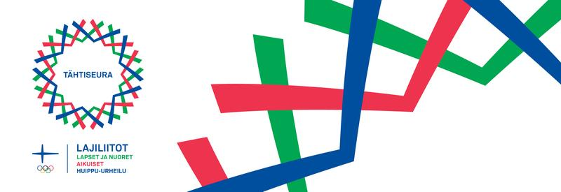 Tässä kuvassa on Tähtiseura-logo ja Olympiakomitean logo. Kuvaa painamalla pääsee Tähtiseura-sivustolle.