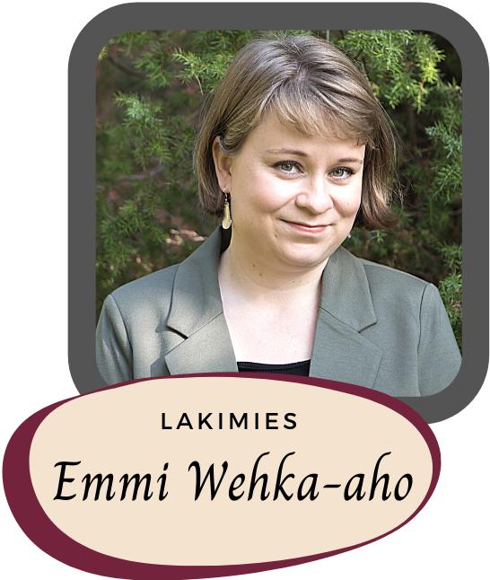 Lakimies Emmi Wehka-Aho harmaassa jakussa.