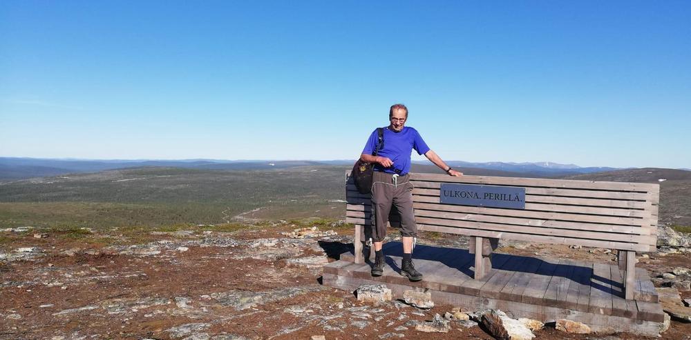 Johannes Kiilopää-tunturin huipulla.