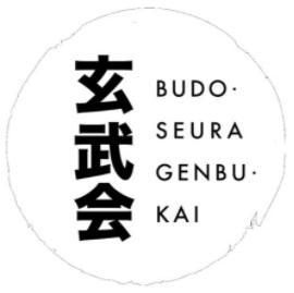 Helsinkiläisen budoseuran Genbu-kain logo valkoisella pohjalla.